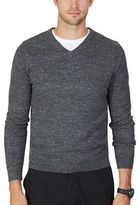 Nautica Big And Tall Big and Tall Snow Cotton V-Neck Sweater