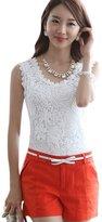 ACE SHOCK Women's Ladies Sexy Lace Slim Fit Cotton Camisole Tank Top Plus Size (M, )