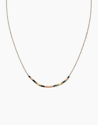 Madewell Cast of Stones Beaded Intention Necklace in Peach Multicolor