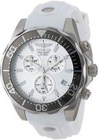 Invicta Men's 12397 Pro Diver Chronograph Dial White Polyurethane Watch