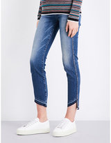 7 For All Mankind Roxanne released-hem cropped mid-rise jeans