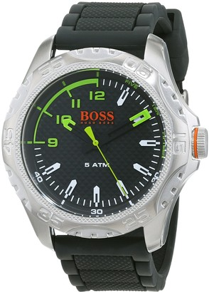HUGO BOSS Mens Analogue Classic Quartz Watch with Silicone Strap 1550033