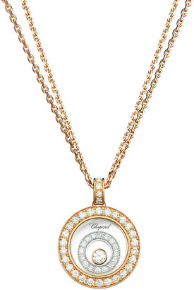 Chopard Happy Spirit 18k Two-Tone Diamond Long Pendant Necklace, 0.72tcw
