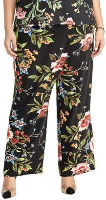 Rachel Roy Plus Sami Floral Tie Pants