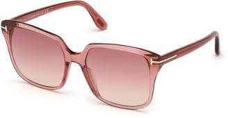 Tom Ford Faye Square Acetate Sunglasses