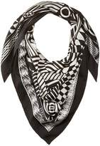 Versace Graphic Print Scarf Scarves