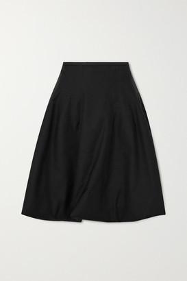 KHAITE Tanya Poplin Skirt - Black