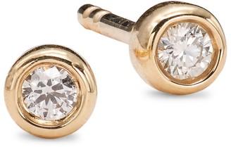 Saks Fifth Avenue 14K Yellow Gold Diamond Stud Earrings