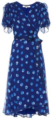 Diane von Furstenberg Kimora silk chiffon wrap dress