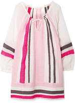 Lemlem Mimi Striped Cotton-blend Gauze Mini Dress - Baby pink