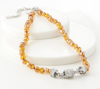Kirks Folly Sunflower Soiree Magnetic Beaded Necklace