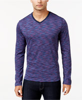 Alfani Men's Big and Tall Tri-Color Long-Sleeve T-Shirt, Only at Macy's