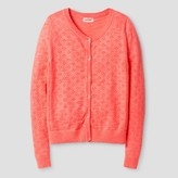Cat & Jack Girls' Pointelle Cardigan Cat & Jack - Sunrise Coral