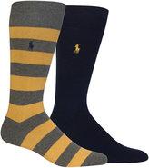 Polo Ralph Lauren Socks, Cotton Rugby Dress Socks 2 Pack