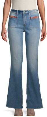 Driftwood Embroidered Bootcut Jeans