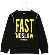 Diesel slogan print sweatshirt - kids - Cotton - 8 yrs
