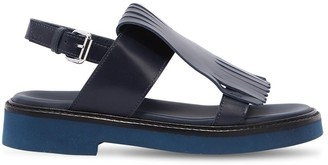 Marni Junior Fringed Leather Sandals