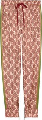 Gucci GG Supreme print silk trousers