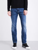 Armani Jeans Washed slim-fit tapered jeans