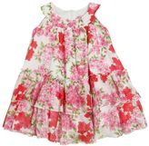 Miss Blumarine Floral Printed Cotton Muslin Dress
