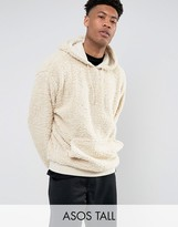 Asos TALL Oversized Hoodie In Borg