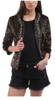 L'Agence Women's Le Cheval Leopard Print Chain-Trim Jacket