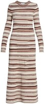 Thumbnail for your product : Chloé Striped Cashmere Maxi Dress