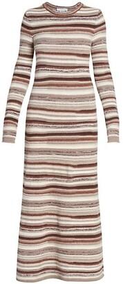 Chloé Striped Cashmere Maxi Dress