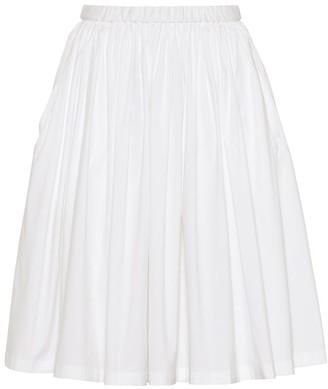 Prada Cotton-blend poplin skirt