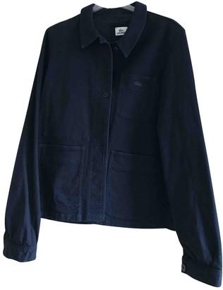 Lacoste Blue Cotton Jacket for Women
