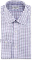 Charvet Men's Tonal Tattersall Plaid Cotton Dress Shirt
