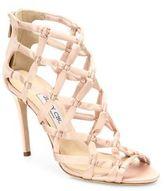 Jimmy Choo Violet 100 Suede & Satin Lattice Sandals