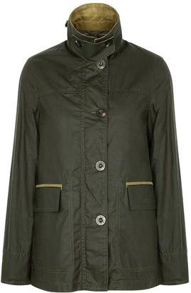 Barbour Christie Dark Green Waxed Cotton Jacket