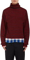 Lanvin Men's Striped Wool-Alpaca Turtleneck Sweater