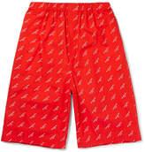 Balenciaga - Printed Cotton-poplin Shorts