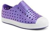 Native Infant Girl's 'Jefferson' Iridescent Slip-On Sneaker