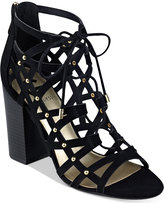 G by Guess Juto Lace-Up Block-Heel Sandals