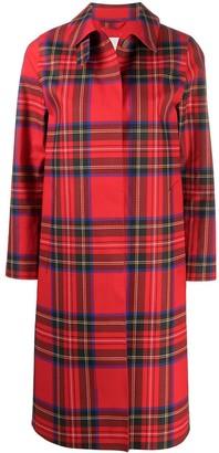 MACKINTOSH Check-Print Single Breasted Coat