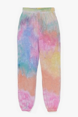 Nasty Gal Womens Show Your True Colors Relaxed Tie Dye Joggers - Pink - L