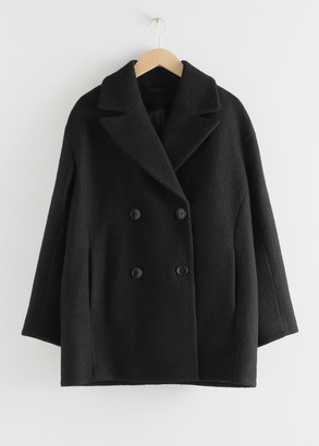 And other stories Double Breasted Boucle Coat