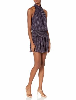 Ramy Brook Women's Geo Print Eloise High Neck Sleeveless Mini Dress