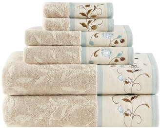 Madison Home USA 6-piece Belle Embroidered Bath Towel Set