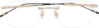 Montblanc Square Frame Transparent Glasses