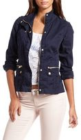 Charlotte Russe Long-Sleeve Twill Utility Jacket