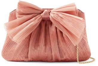 Loeffler Randall Rayne Knotted Satin Clutch
