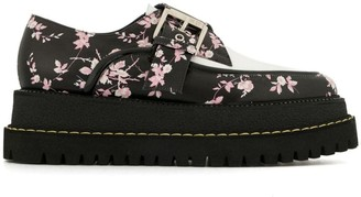 No.21 Floral Buckle Loafers