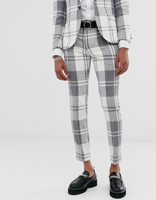 Twisted Tailor super skinny suit pants in bold gray check