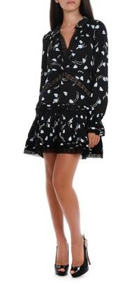 Self-Portrait V-Neck Mini Dress