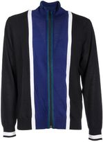 Paul Smith Stripe Funnel-neck Zip-front Cardigan