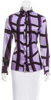 Versace Printed Silk Top